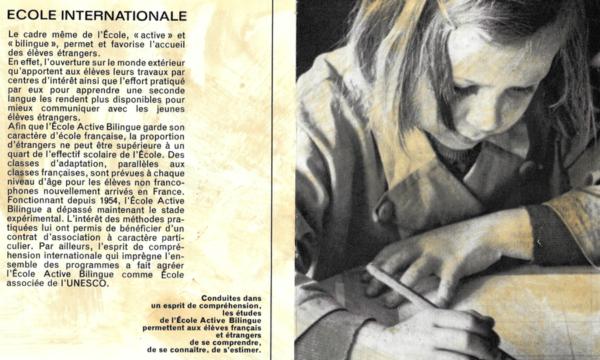 Article de presse sur l'école Jeannine Manuel
