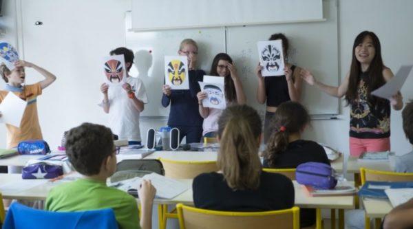 Photo de cours de chinois à l'École Jeannine Manuel de Paris