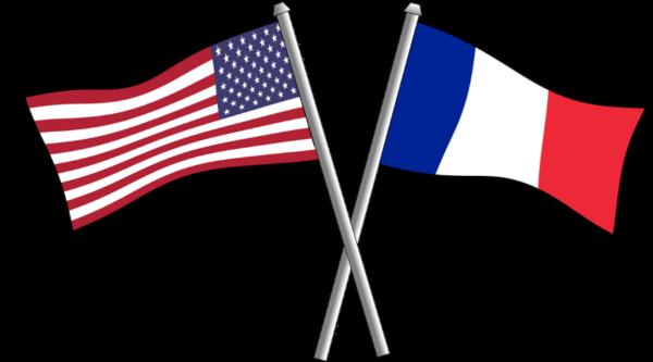 Image des drapeaux français et américain