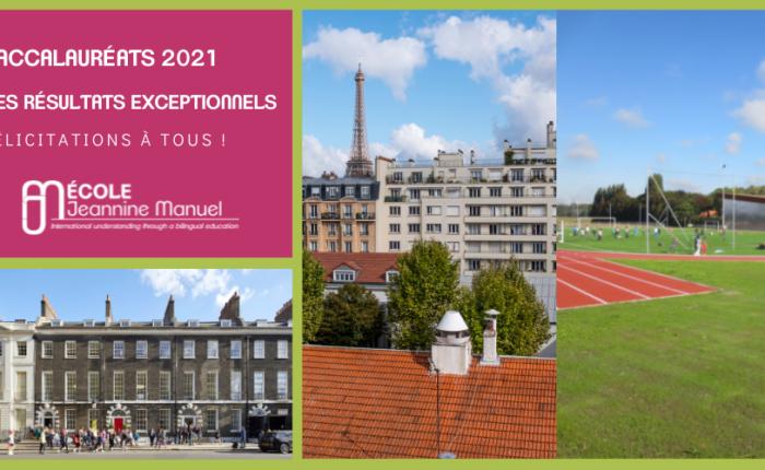 Résultats des baccalauréats 2021 de l'École Jeannine Manuel